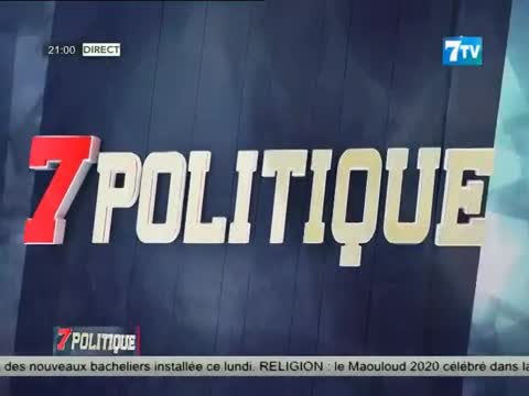Replay 7 Politique du lundi 19 oct. 2020 avec Dr Babacar DIOP